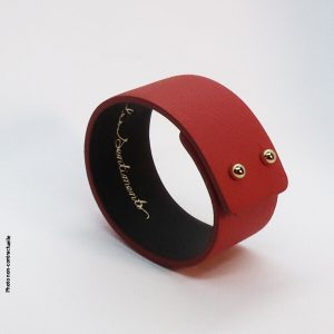 Bracelet-cuir-artisanal-rouge