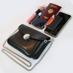 Mini-sac cuir noir