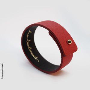 Bracelet-artisanal-cuir-rouge