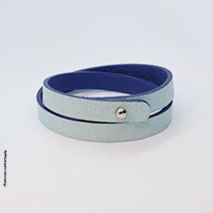 Bracelet-tendance-femme-cuir-bleu-double-tour