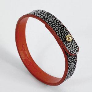 Bracelet-galuchat-gris-bracelet-tendance-bracelet-orignial
