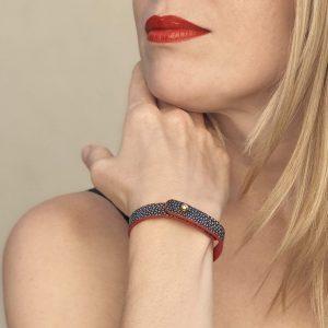 Bracelet-galuchat-noir-bracelet-tendance-bracelet-orignial-cadeau-facile